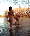 Russian Men In The Lake