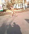 Naked Man Runs Around