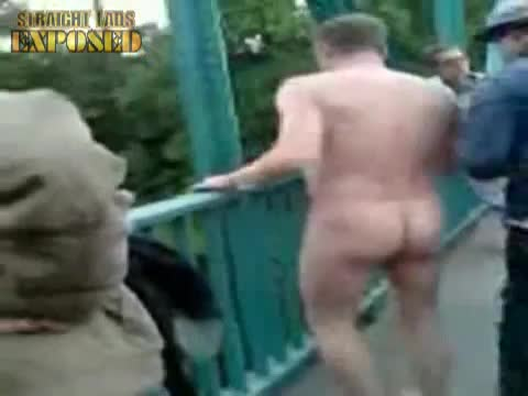 naked bridge jump
