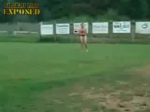 naked on a football pitch