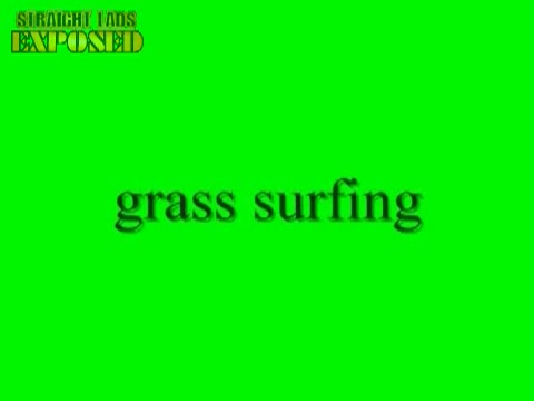 naked grass surfing