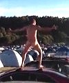 Naked Dance On A Car Roof
