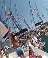 Naked Yacht Jump
