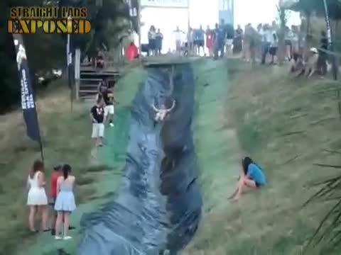 nude slip slide