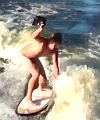 Wakeboarding Naked