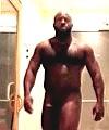 Naked Black Man In The Sauna