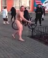 Naked Russian Man In The Street Part 2
