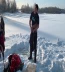 Naked Ice Bath