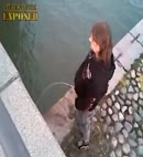pissing in a dock