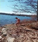 Naked Man Jumps In The Lake