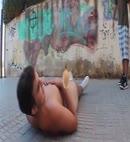Naked Lad Pisses Over Himself
