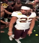 American Footballer Caught Naked