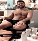 Hairy Guy Gets His Dick Out