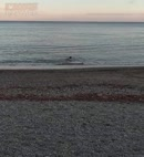 Naked Man In The Sea
