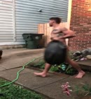 Naked Man Takes The Rubbish Out