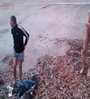 Lads Get Naked At The Lake