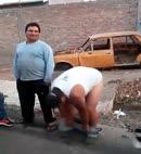 Fat Man Gets Pantsed