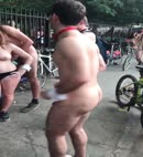 Man Dances Naked In The Street
