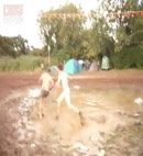 Naked Mud Fight
