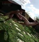 Naked Wrestling In The Garden 2