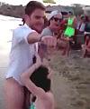 Blowjob On The Beach