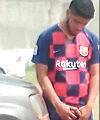 Footballer Takes A Piss