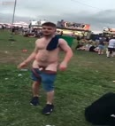 Lad Gets His Dick Out At A Festival