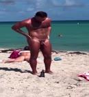 Naked Man At The Beach