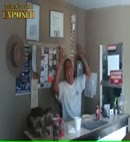 man caught in the toilet�at work