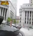 NAKED MAN IN PUBLIC FOUNTAIN