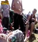 man pins his shirt through his balls