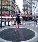 Dunlop Dancer on underground vent shaft Paris