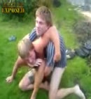 naked lads wrestling garden