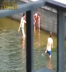 naked lad's in a dock