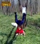 handstand cock out