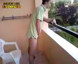 balcony piss