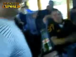 rugby lad strips on tour bus