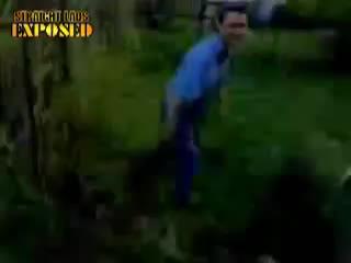 naked man garden