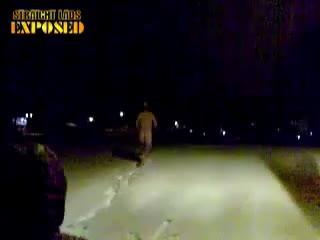 naked run in snow