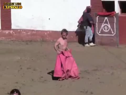 Naked bullfighting