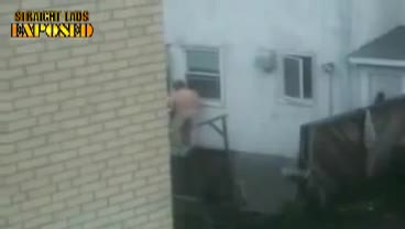 naked man locked out