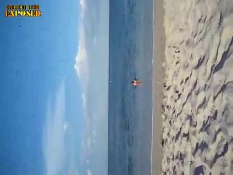 hardon at the beach