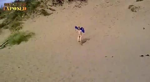 Rolf Streaks The Beach