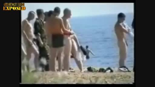naked army lads at the beach