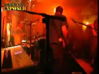 streaker jumps on stage